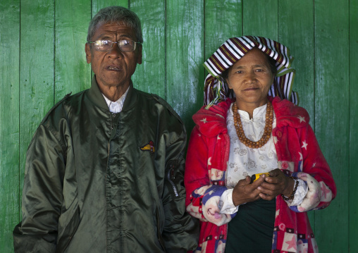 Old chin couple, Mindat, Myanmar