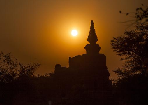 Old Temple At Sunset, Bagan, Myanmar