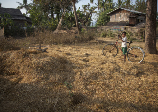 Rohingya Kid In Front Of The Destroyed Mosque, Thandwe, Myanmar