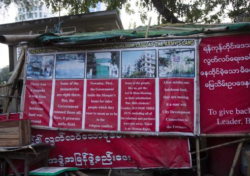 Demonstration About Housing, Yangon, Myanmar