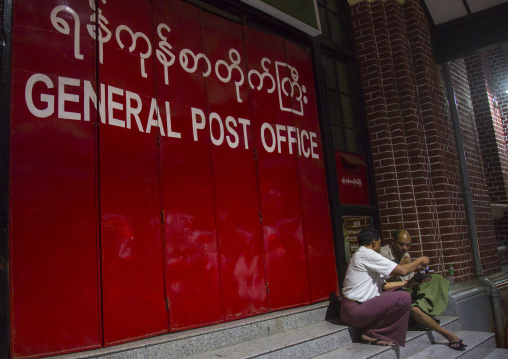 General post office, Yangon, Myanmar