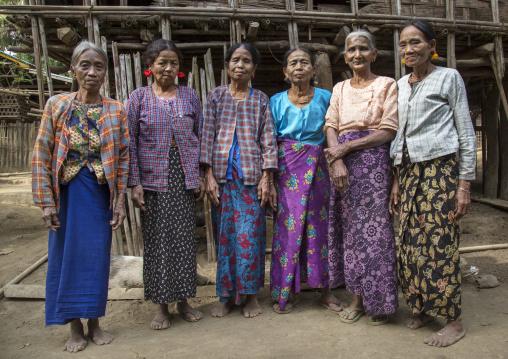 Tribal Chin Women With Spiderweb Tattoo On The Faces, Mrauk U, Myanmar