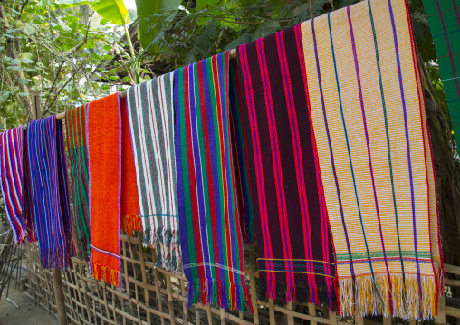 Chin Traditional Textiles, Mrauk U, Myanmar