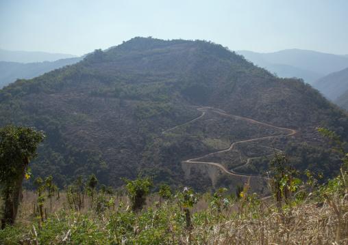 Road In The Mountains, Mindat, Myanmar