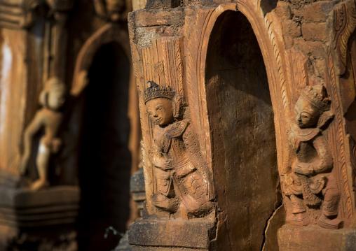 Statues In Shwe Inn Thein Paya Temple, Inle Lake, Myanmar