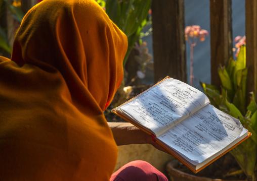 Monk Reading A Book, Inle Lake, Myanmar