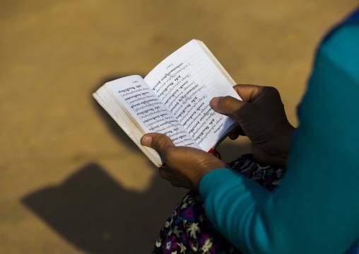 Girl Reading A Book, Inle Lake, Myanmar