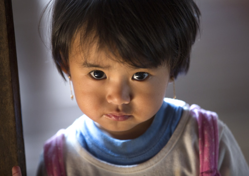 Burmese child, Inle lake, Myanmar