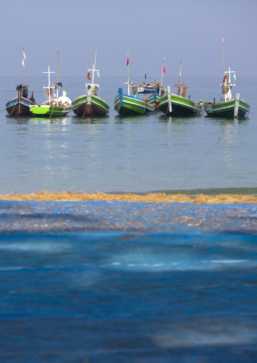 Fishing boats, Ngapali, Myanmar