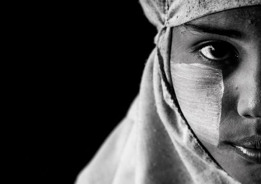 Rohingya Woman With A Muslim Veil, Thandwe, Myanmar