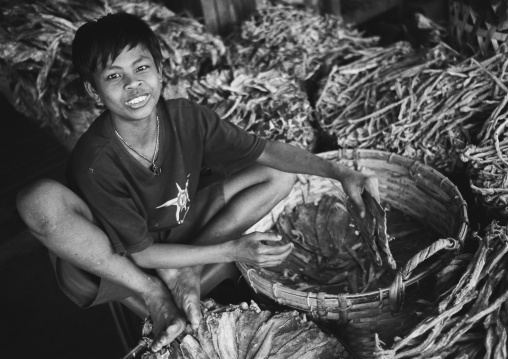 Boy Selling Dried Fishes, Ngapali, Myanmar