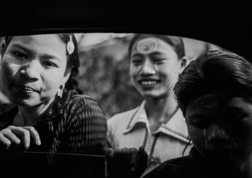Women With Thanaka, Yangon, Myanmar