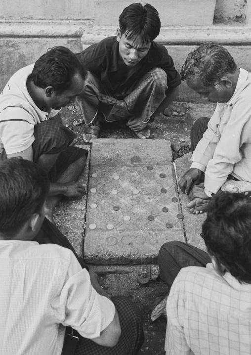 Men Playing Chess, Yangon, Myanmar