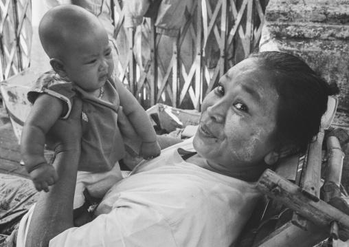 Mother Holding Her Baby, Yangon, Myanmar