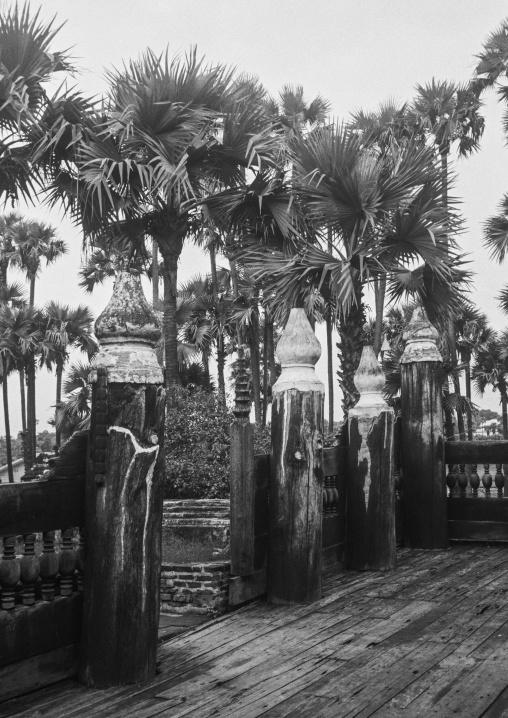 Old Wooden Monastery, Yangon, Myanmar