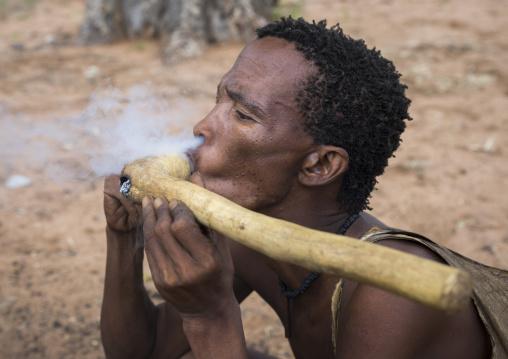 Bushman Smoking Pipe, Tsumkwe, Namibia