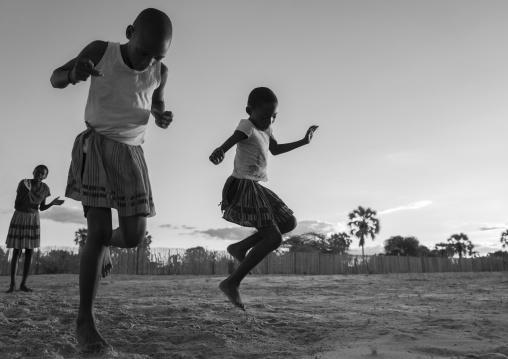 Ovambo Girls Dancing, Ondangwa, Namibia
