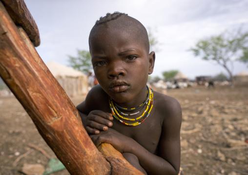 Himba Child Boy, Epupa, Namibia