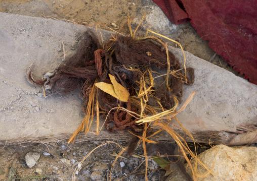 Stuff Used By Himba Women To Make Dreadlocks, Epupa, Namibia