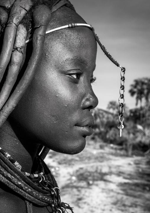 Himba Woman Profile, Epupa, Namibia