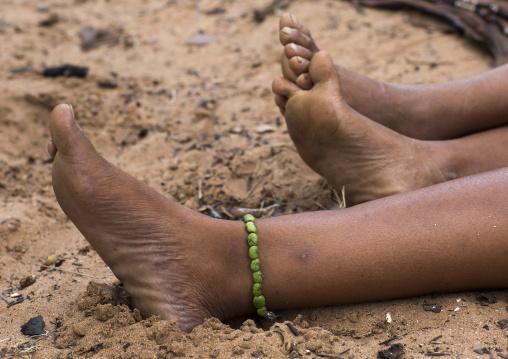 Bushman Woman Feet, Tsumkwe, Namibia