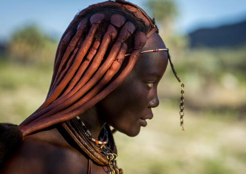 Himba Woman Hairstyle, Epupa, Namibia