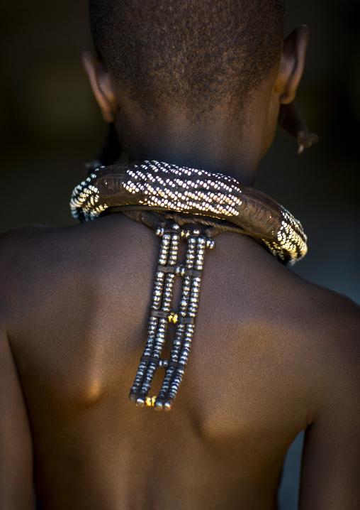 Himba Child Back Decoration, Pupa, Namibia