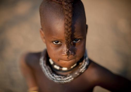 Himba Twin Girl Called Kaveunanga, Okapale Area, Namibia