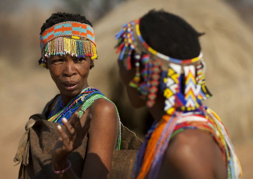 San Women With Beaded Headdresses, Namibia