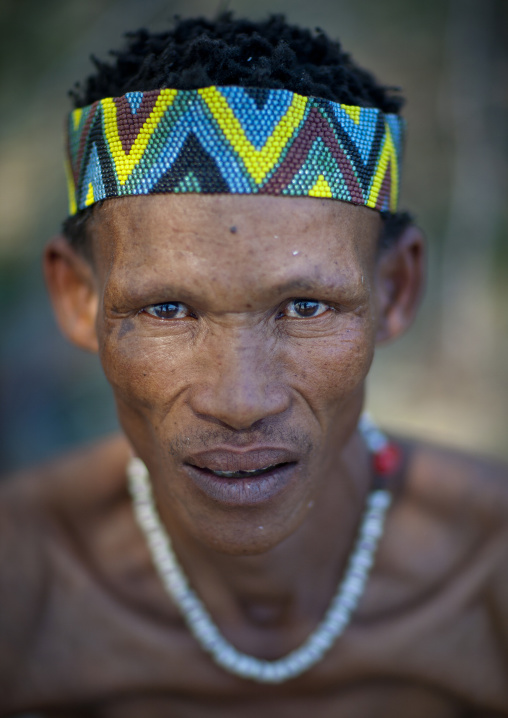 San Man With A Beaded Headband, Namibia