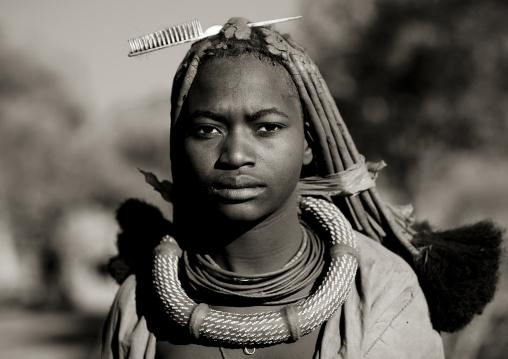 Young Himba Woman, Karihona Village, Ruacana Area, Namibia