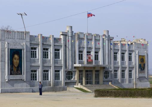 Movie theatre in a village, Kangwon Province, Chonsam Cooperative Farm, North Korea