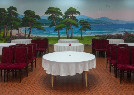 Empty restaurant, South Hamgyong Province, Hamhung, North Korea