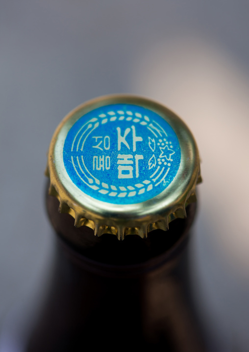 Cap of a ryongsong beer, Pyongan Province, Pyongyang, North Korea