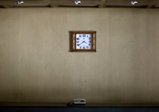 Dongmyong hotel reception clock, Kangwon Province, Wonsan, North Korea