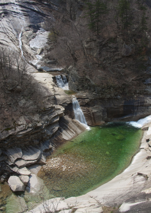 Waterfall and green pool, Kangwon-do, Mount Kumgang, North Korea