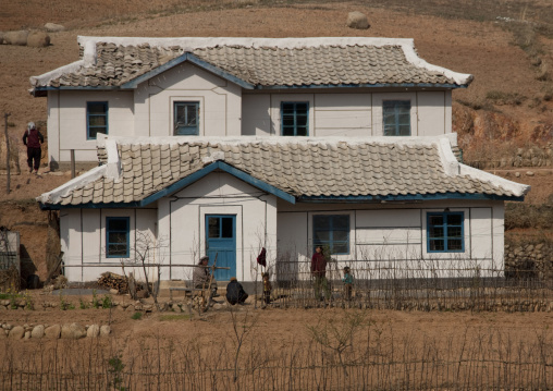 Farmers village in the countryside, Kangwon Province, Wonsan, North Korea