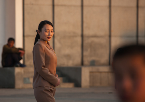 Portrait of a North Korean woman in the street, Kangwon Province, Wonsan, North Korea