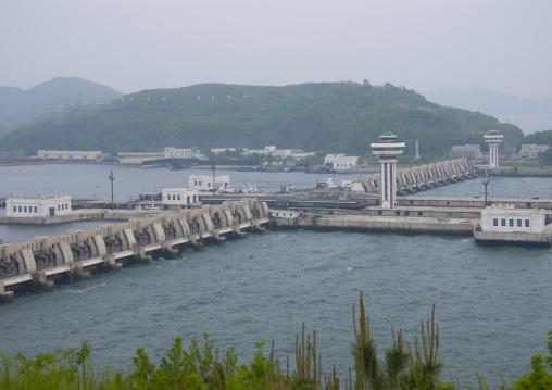 The west sea barrage, South Pyongan Province, Nampo, North Korea