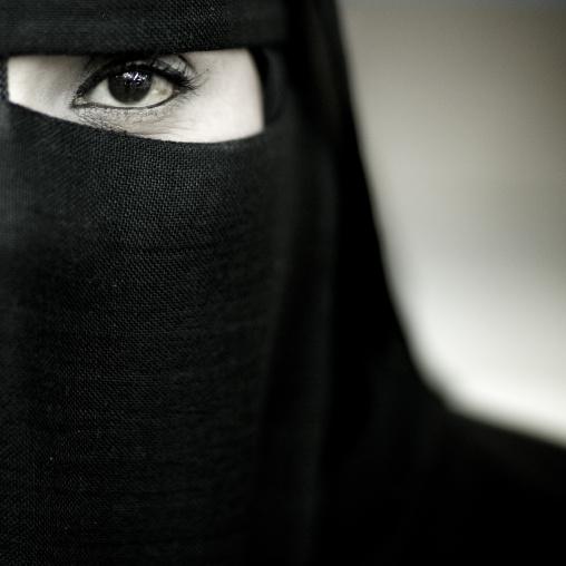Half-face Of A Veiled Masked Woman, Salalah, Oman