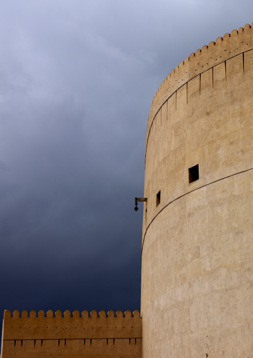 Tower Of Nizwa Castle Under The Blue Sky, Oman