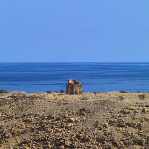 Prospect Of Bibi Mariam Tomb In The Background Of The Sea, Muscat, Oman