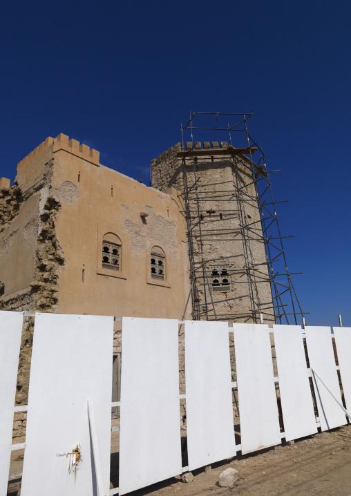 Mirbat Castle Renovation Under Construction, Oman