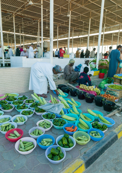 Vegetables and fruits market, Al Batinah, Barka, Oman