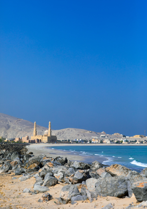 Mosque on the seaside, Musandam Governorate, Khasab, Oman