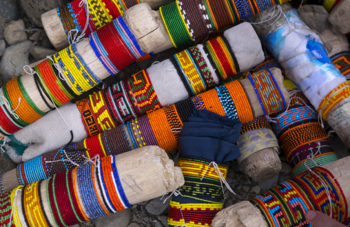 Panama, San Blas Islands, Mamitupu, Kuna Indian Bracelets