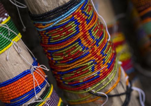 Panama, San Blas Islands, Mamitupu, Kuna Indian Bracelets