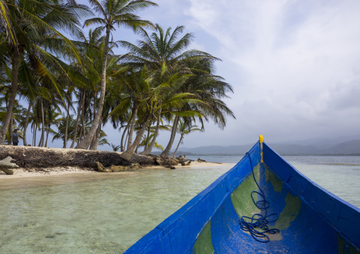 Panama, San Blas Islands, Mamitupu, Traditional Kuna Tribe Canoe