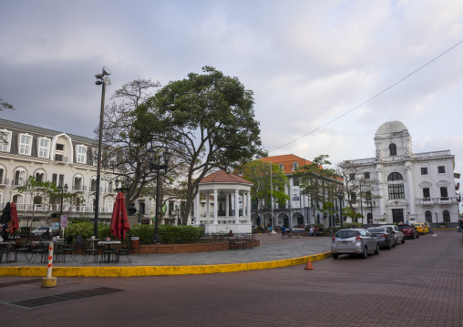 Panama, Province Of Panama, Panama City, Independance Plaza In Old City Casco Viejo