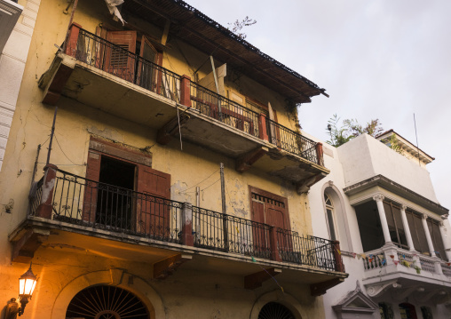 Panama, Province Of Panama, Panama City, Renovation On An Old Building Begins In Unesco Protected Area Of Casco Viejo
